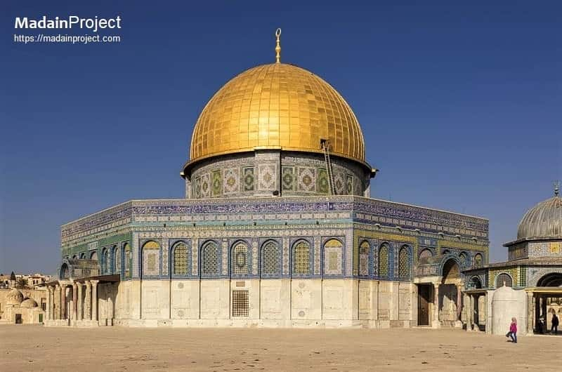 Northeast exposure of al-Aqsa Mosque