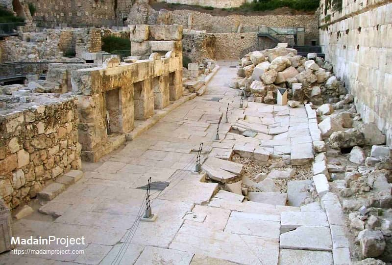 Herodian street along the western wall of the Temple Mount (Haram al-Sharif)
