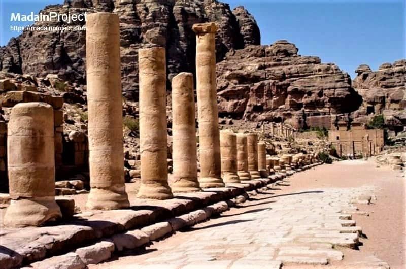 Colonnade street in ancient city of Petra